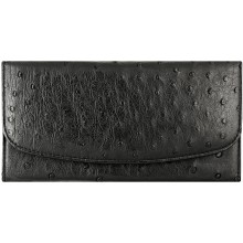 Genuine ostrich leather exclusive wallet PSOS03 Black
