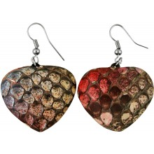 Genuine python snake leather earrings PTER06 MC