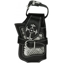 Genuine python snake and cow leather case PTPLCC141 Black / Natural
