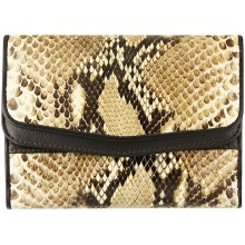 Genuine python leather wallet PTW20TH Natural