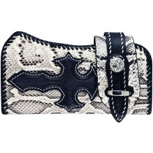 Genuine python, stingray and cow leather wallet PTWLF242 Natural