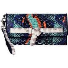 Genuine python leather wallet PYTCW01PP Green / Red / Blue