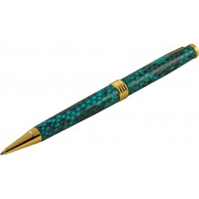 Genuine python leather covered pen PYTHPEN30-GT Turquoise
