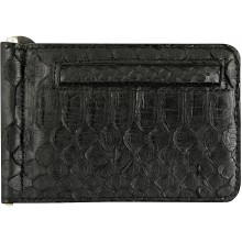 Genuine python leather money clip PYTMCLIP09 Black