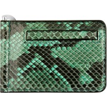 Genuine python leather money clip PYTMCLIP09 Green