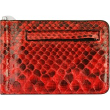 Genuine python leather money clip PYTMCLIP09 Red
