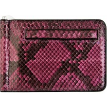 Genuine python leather money clip PYTMCLIP09 Violet