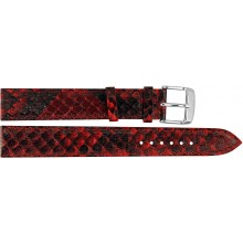 Genuine python snake leather watch band PYWB01 Red