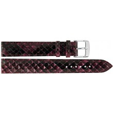 Genuine python snake leather watch band PYWB01 Violet