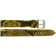 Genuine python snake leather watch band PYWB01 Yellow
