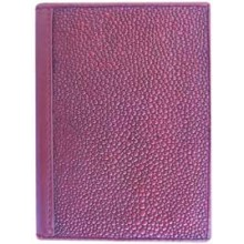 Genuine stingray leather card holder R01 Burgundy