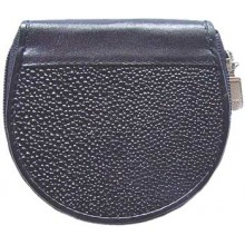 Genuine stingray leather coin wallet R033 Black
