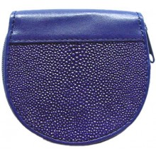 Genuine stingray leather coin wallet R033 Blue