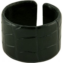 Genuine crocodile leather bracelet SCR-BR40 Black
