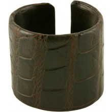 Genuine crocodile leather bracelet SCR-BR50 Maroon