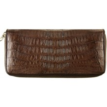 Genuine alligator leather wallet SEALW001TL Brown