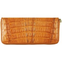 Genuine alligator leather wallet SEALW001TL Tan