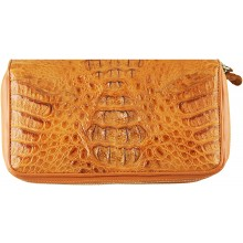 Genuine alligator leather wallet SEALW002HB Tan