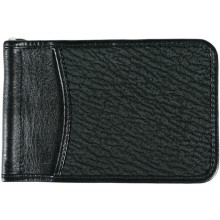 Genuine shark leather money clip SHARK2392 Black