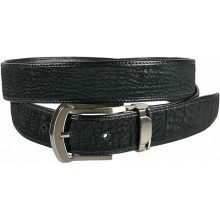 Genuine shark leather belt SHARK102 Black