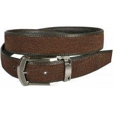Genuine shark leather belt SHARK102 Brown