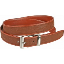 Genuine shark leather belt SHARK102 Cognac