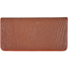 Genuine shark leather wallet SHARK2109 Cognac