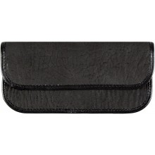 Genuine shark leather glasses case SHARK2263 Black