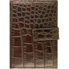 Genuine crocodile leather wallet SMMRW Oak