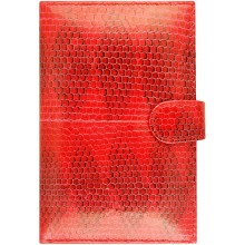 Genuine snake leather wallet SN9003 Fire Red