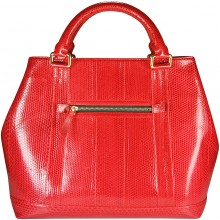 Genuine snake leather bag SNBAL02G Fire Red