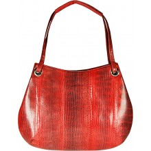 Genuine snake leather bag SNBAL03 Fire Red