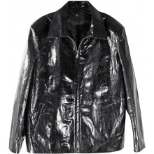 Genuine snake leather jacket SNJACKET01 Black