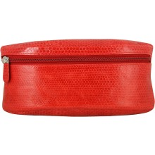 Genuine sea snake leather make up bag SNMAKEUP01 Fire Red