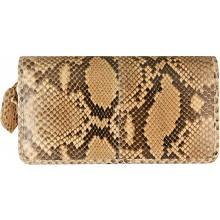 Genuine python leather wallet SNW005PT Cream