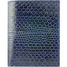 Genuine snake leather wallet SNW01HK Midnight Blue