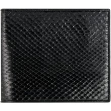 Genuine python leather wallet SNW03C Black