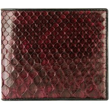 Genuine python leather wallet SNW03C Burgundy