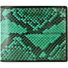 Genuine python leather wallet SNW03C Green