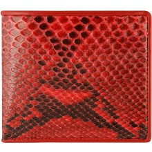 Genuine python leather wallet SNW04-1PT Red