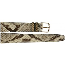 Genuine python snake leather watch band SNWB003
