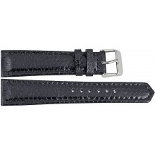 Genuine sea snake leather watch band SNWB004 Black