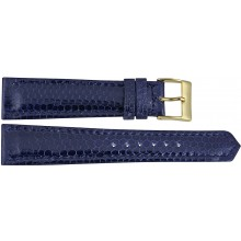 Genuine sea snake leather watch band SNWB004 Midnight Blue