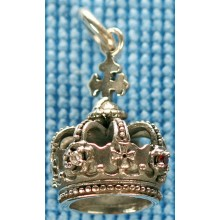 Sterling silver crown pendant SPENDANT004