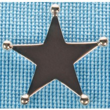 Sterling silver sheriff star pendant SPENDANT007