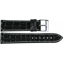 Genuine crocodile leather watch band SPHT-S01 Black