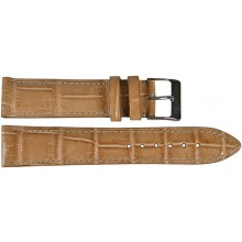 Genuine crocodile leather watch band SPMC-S01 Beige