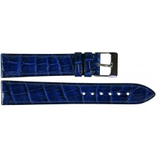 Genuine crocodile leather watch band SPMC-S01 Midnight Blue