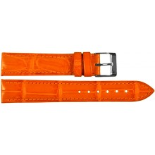 Genuine crocodile leather watch band SPMC-S01 Orange