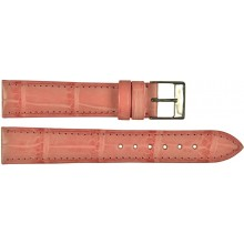 Genuine crocodile leather watch band SPMC-S01 Pink